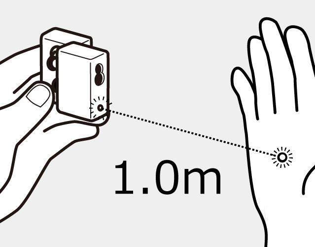 デジタル光ビーム検知範囲イラスト